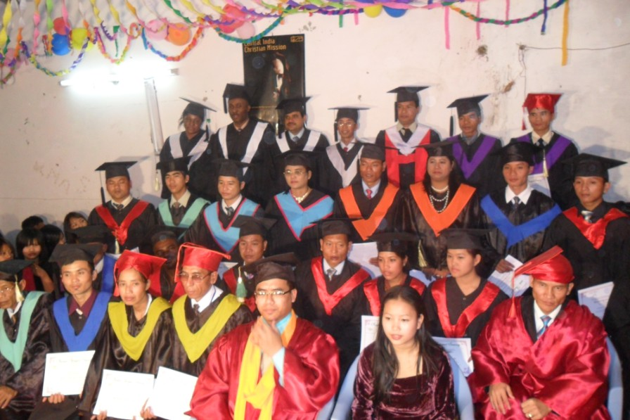 21 December 2010 Fourth GRADUATION EXERCISE ( Graduating students with Dr Paogin Mangte)